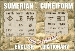 Sumerian Cuneiform English Dictionary Cover 12013CT v16 cu 250
